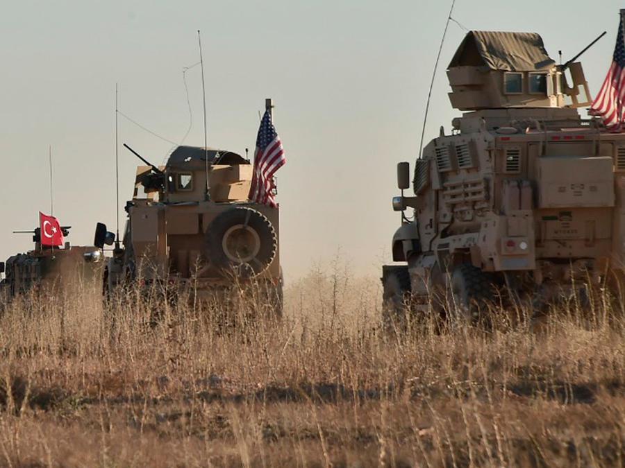 Tropas de EEUU y turcas en Siria en una imagen de archivo