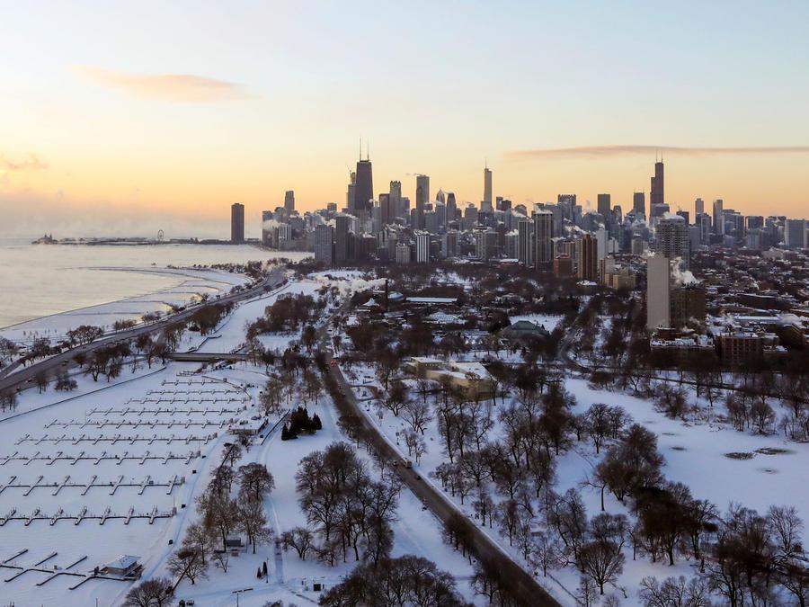 Chicago bajo la ola de frío extremo/AP