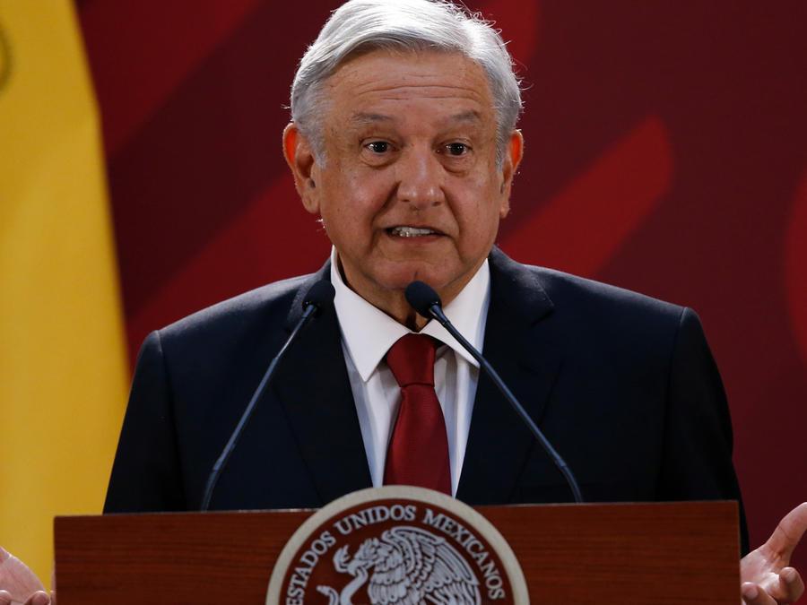 Presidente de México, Andrés Manuel López Obrador, en una rueda de prensa en una imagen de archivo
