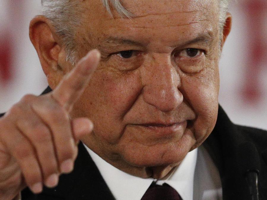 Obrador, en una imagen de archivo durante una conferencia de prensa en enero.