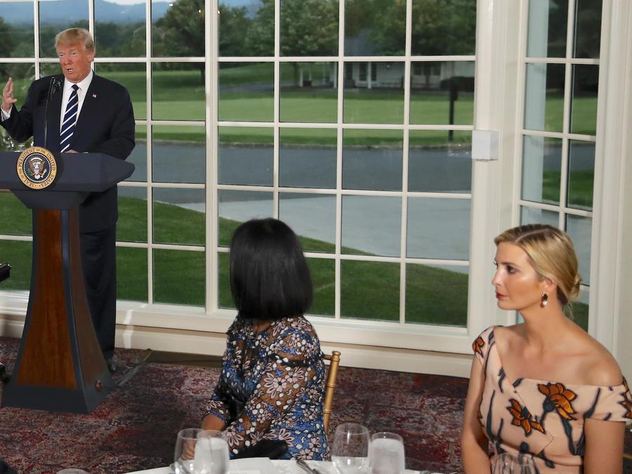 Trump, en un evento en su club de golf de Bedminster en agosto de 2018.