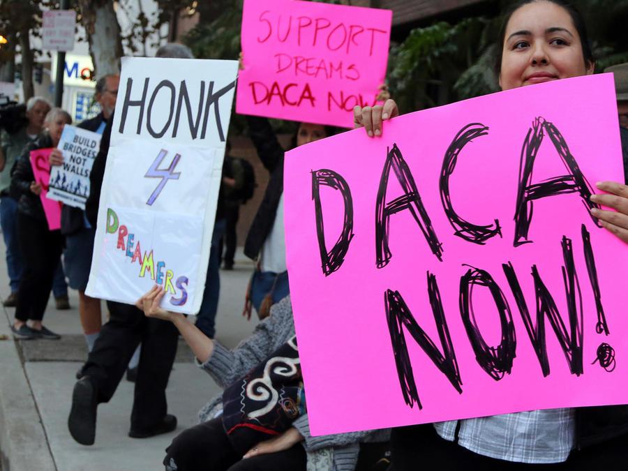 Manifestación a favor de DACA en una imagen de archivo