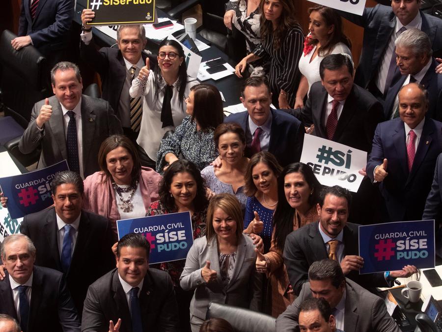 Senado mexicano aprueba por unanimidad la creación de Guardia Nacional civil