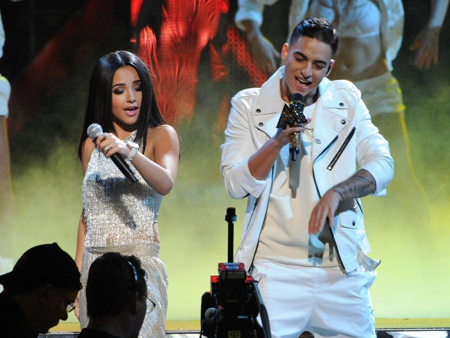 Becky G and Maluma perform in Las Vegas