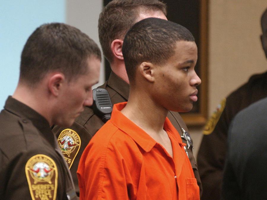 Lee Boyd Malvo, durante una de las audiencias en el juicio en su contra por los asesinatos de 10 personas en los estados de Maryland y Washington D.C.