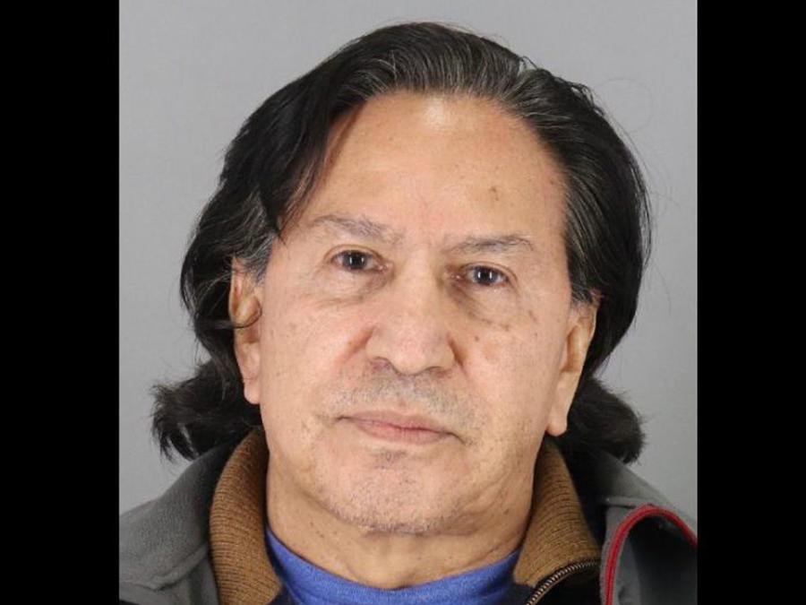 Ex presidente de Perú Alejandro Toledo en el archivo policial tras su detención en estado de ebriedad en California