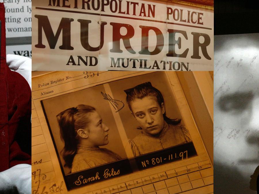 Imágenes de una exposición sobre Jack el Destripador en Londres en 2008.