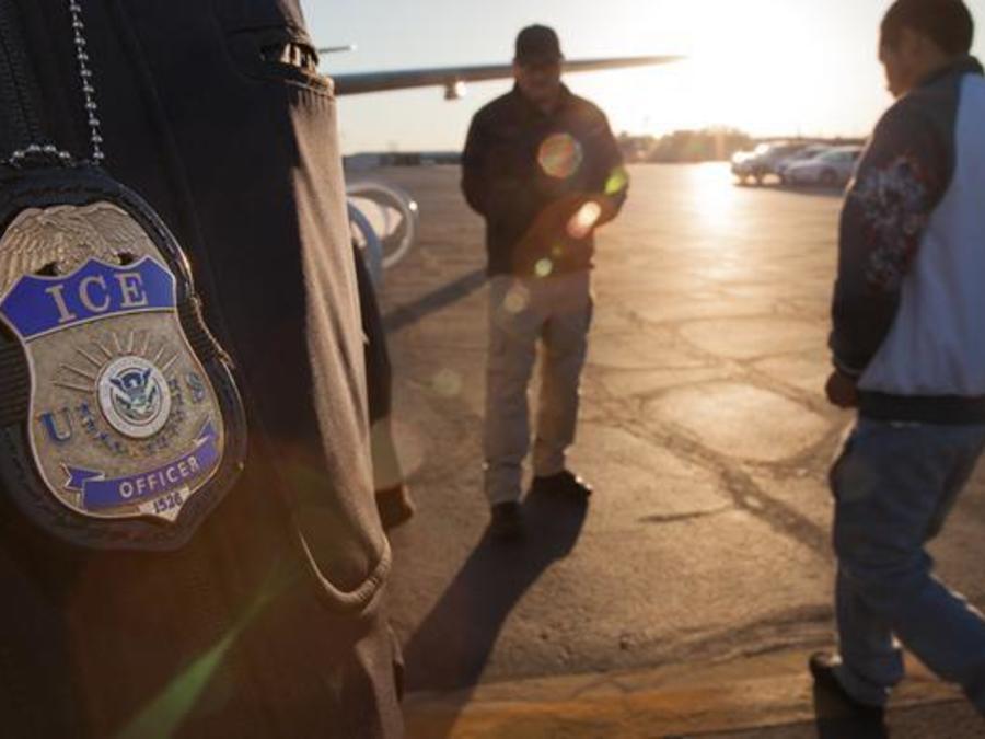 Imagen de archivo de un operación de ICE.