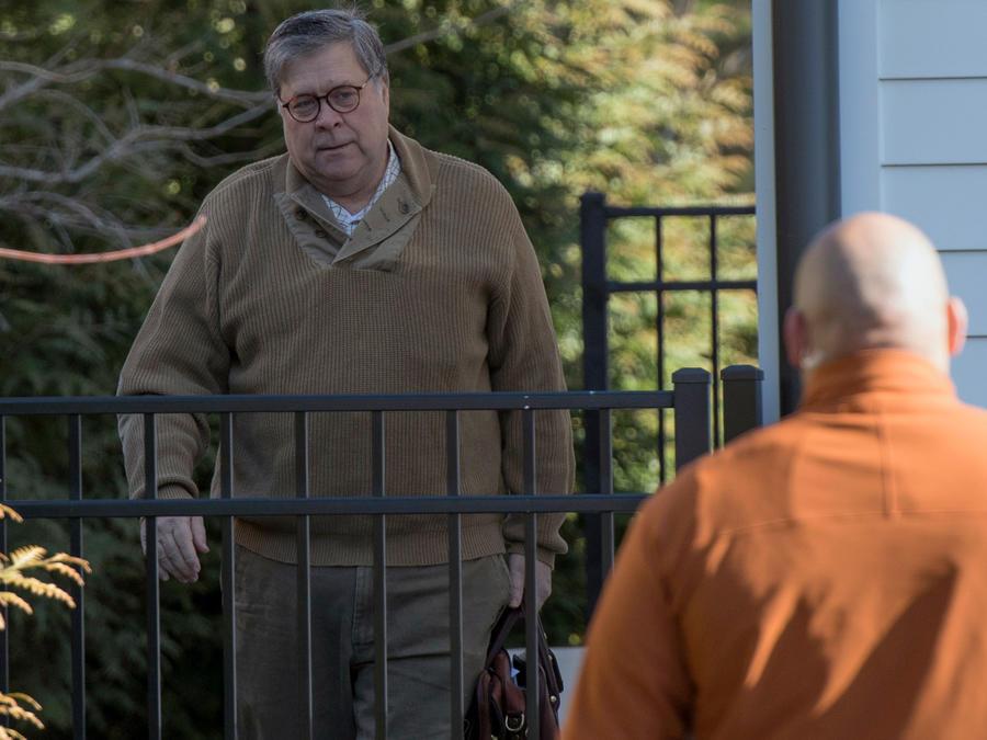 El fiscal general de EEUU, William Barr, esta mañana en camino al Departamento de Justicia