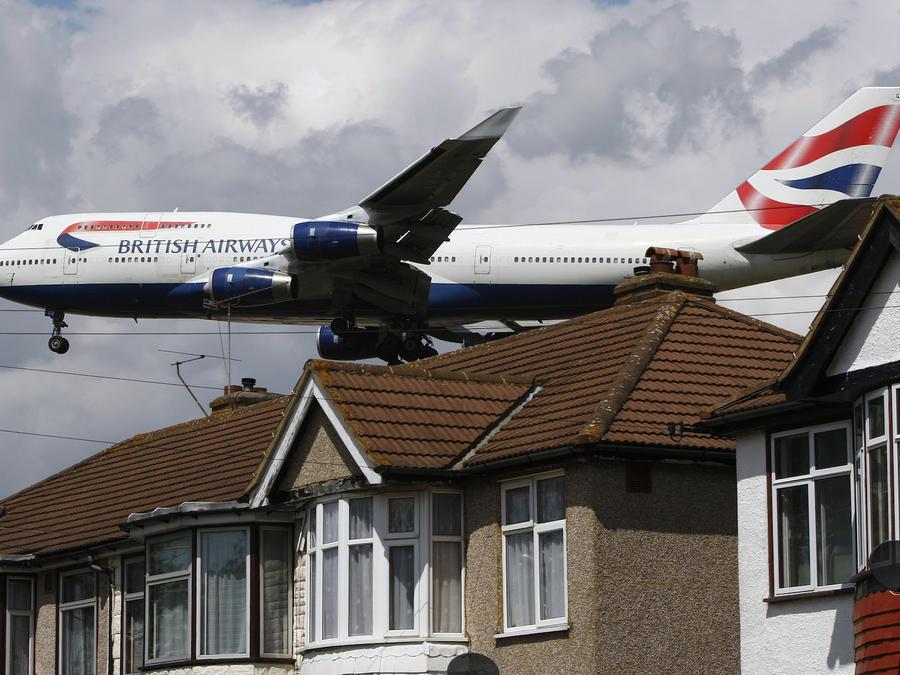 Imagen de archivo de un vuelo de British Airways en las proximidades de Londres (Reino Unido).