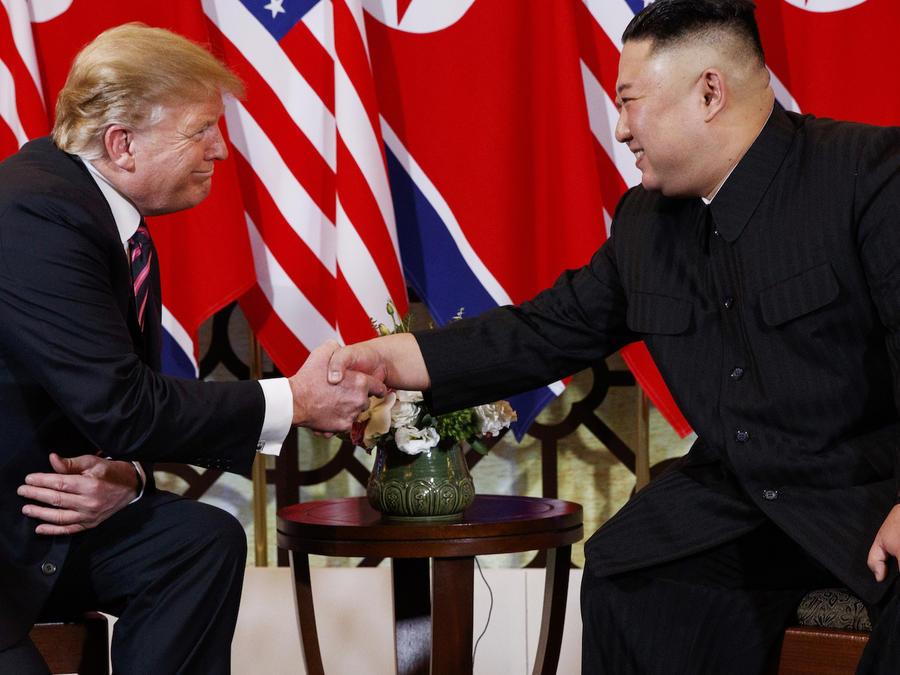 Donald Trump y Kim Jong Un, el 27 de febrero en Hanói.