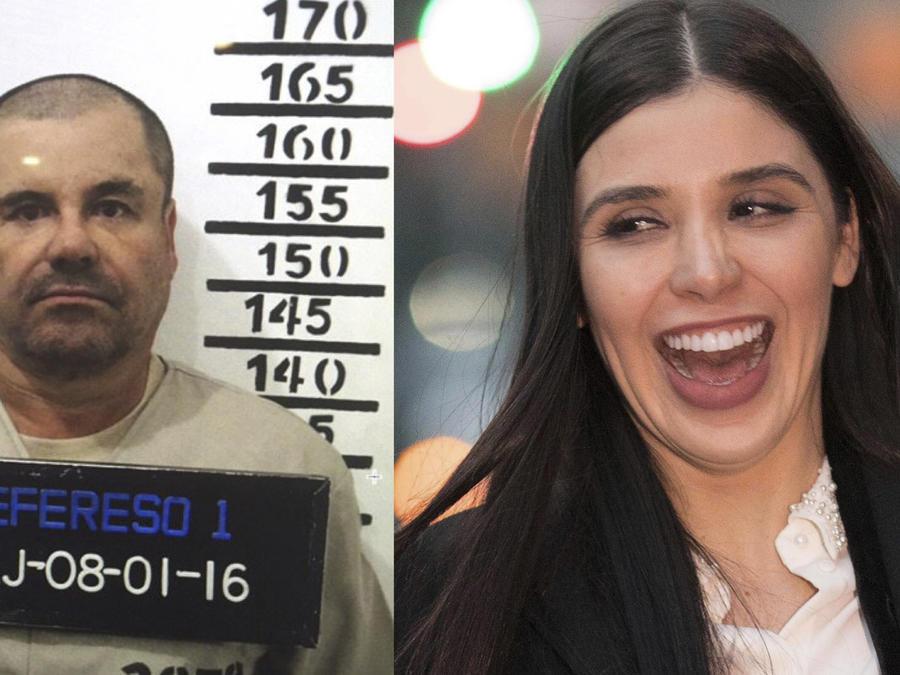 El Chapo (izquierda) y Emma Coronel, en imágenes de archivo.