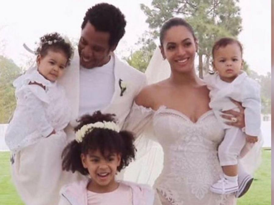 Beyoncé y Jay-Z con sus hijos