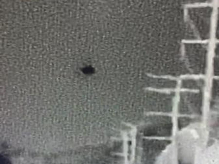 Fotografía de un drone sobrevolando ilegalmente la frontera