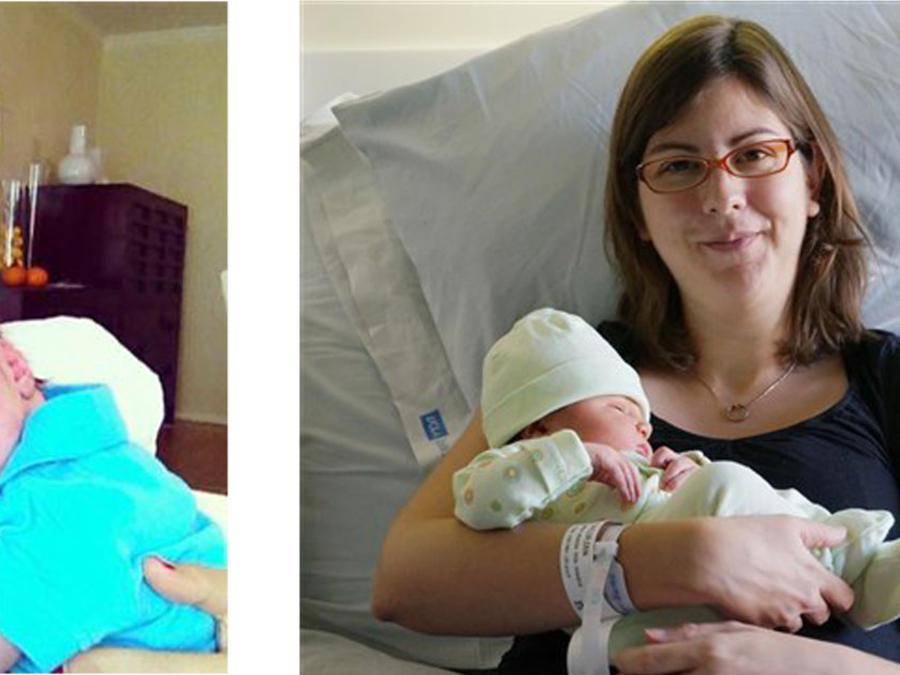 Layla Parast y Erin Taylor tuvieron partos similares, pero Parast recibió una factura sorpresa/NBC News