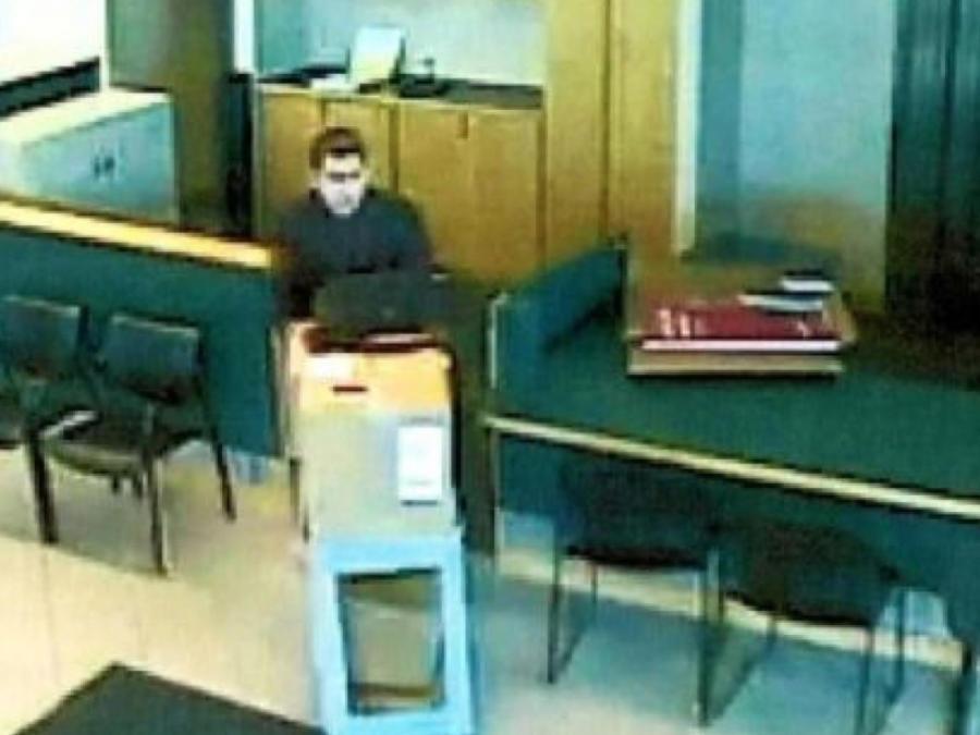 Imagen de las cámaras de vigilancia durante el robo.