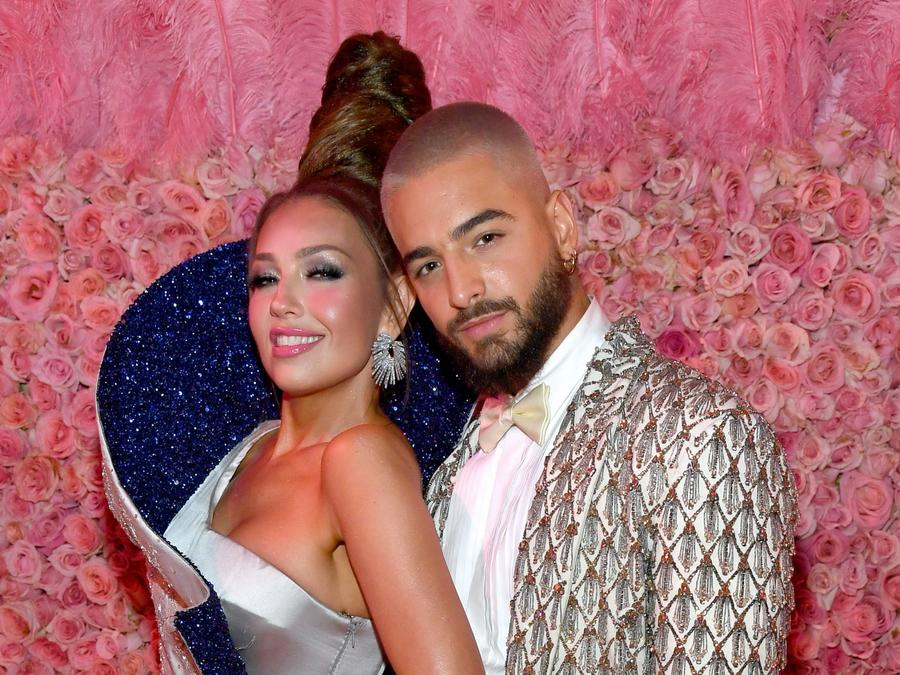 Thalia and Maluma at the 2019 Met Gala
