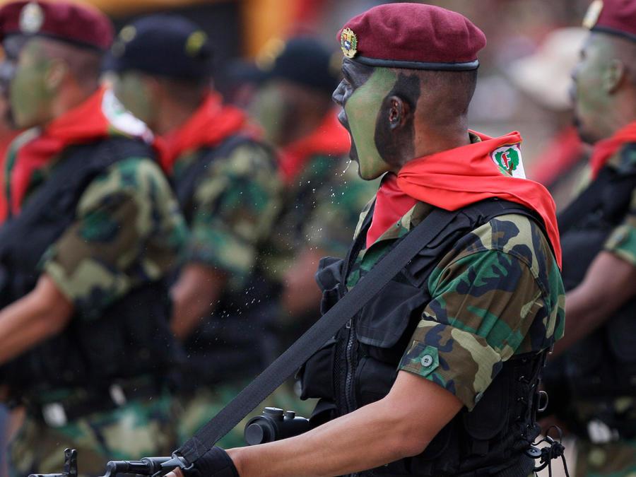 Soldados del Ejército de Venezuela en una imagen de archivo