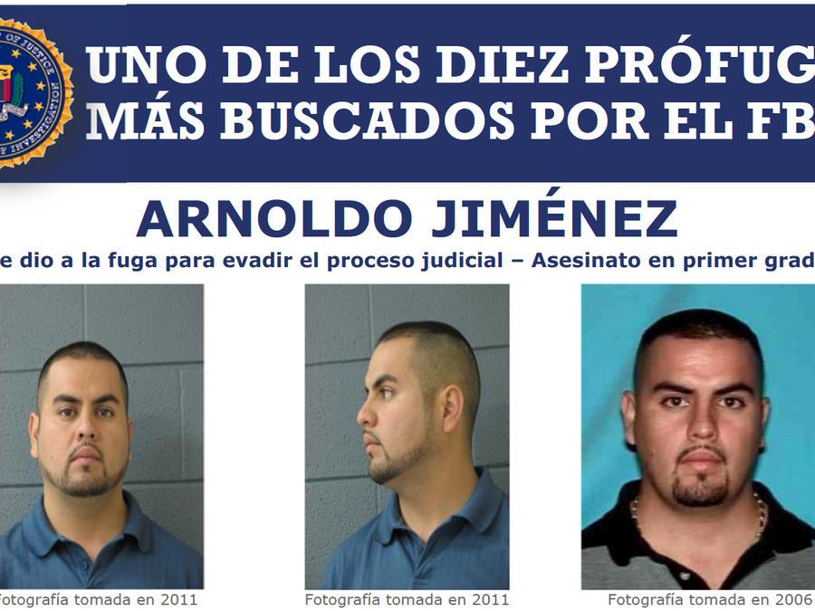 Cartel del FBI sobre Arnoldo Jiménez.