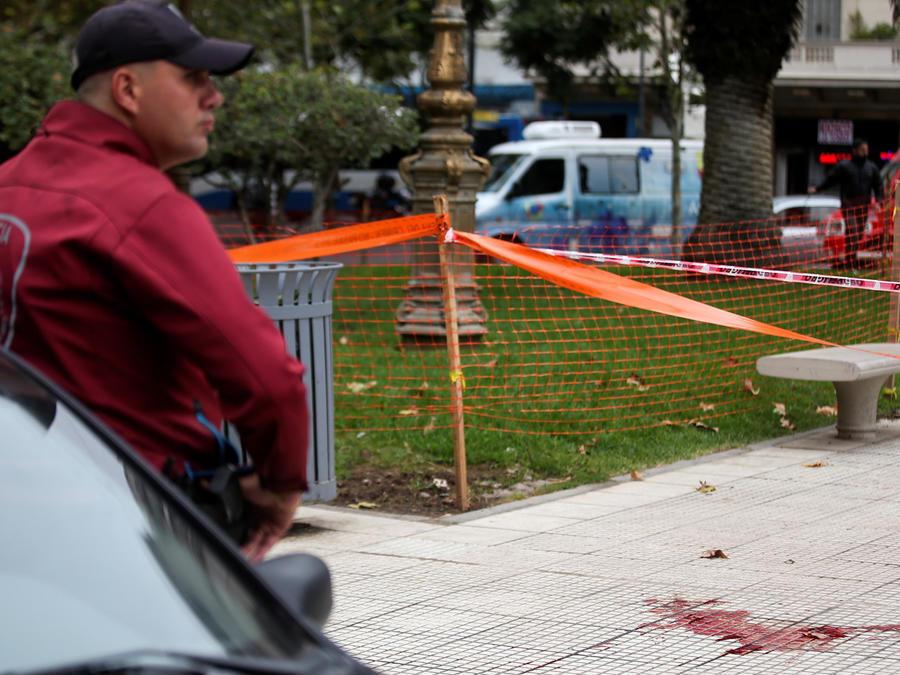 Escenario de ataque a un diputado argentino y su colaborador