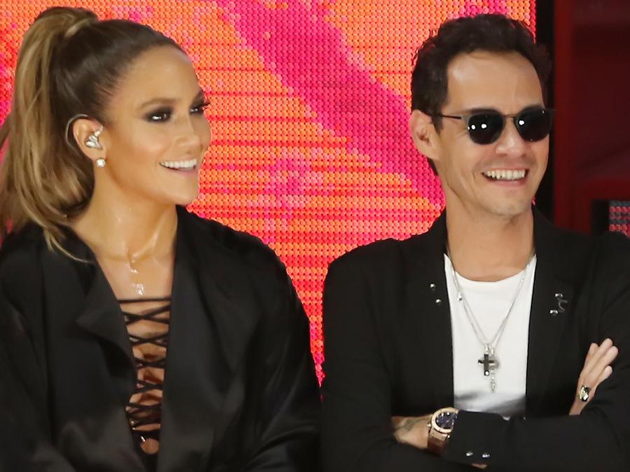 Jennifer Lopez y Marc Anthony en el concierto de GOTV en Miami 2016