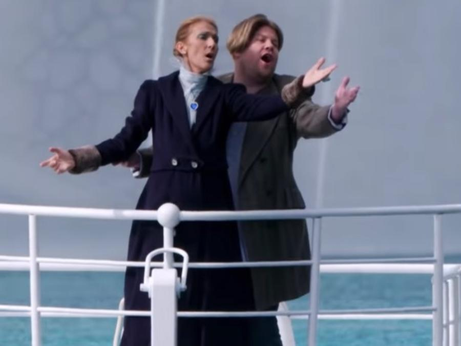 Celine Dion recreates Titanic in Carpool Karaoke with James Corden