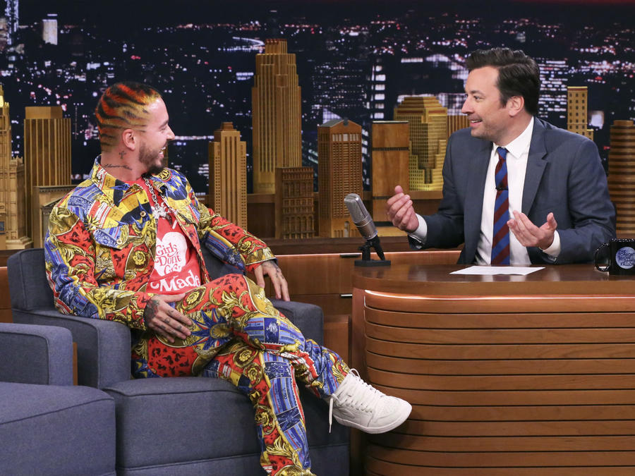 J Balvin con Jimmy Fallon