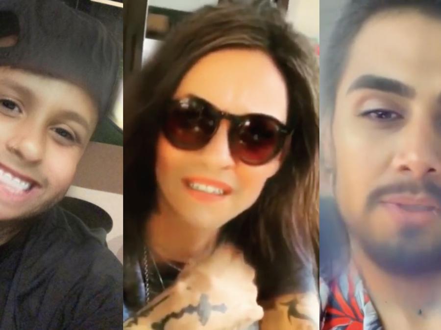 Artistas latinos juegan con filtros de Snapchat