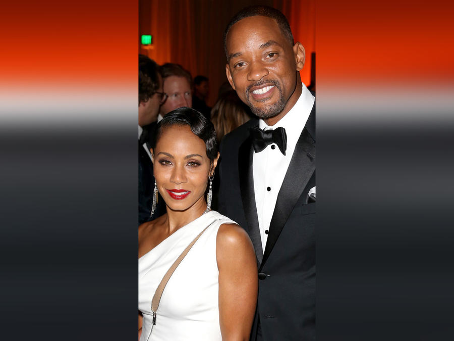 Will Smith y su esposa Jada Pinkett-Smith en el The Diamond Ball II with D'USSE and Armand de Brignac el 10 de diciembre de 2015 en California