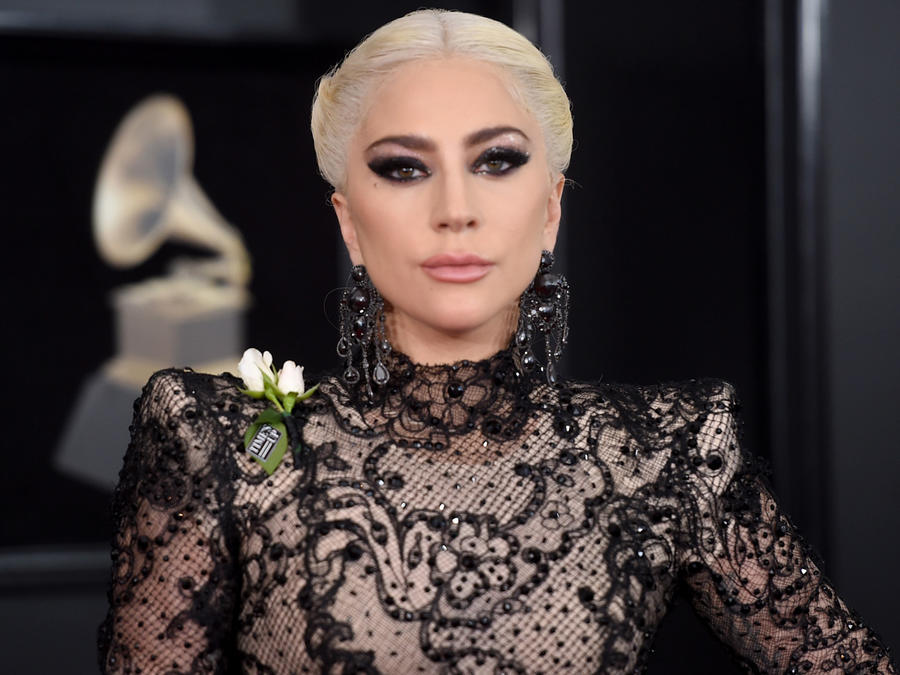 Lady Gaga en los 60th Annual GRAMMY Awards en enero de 2018