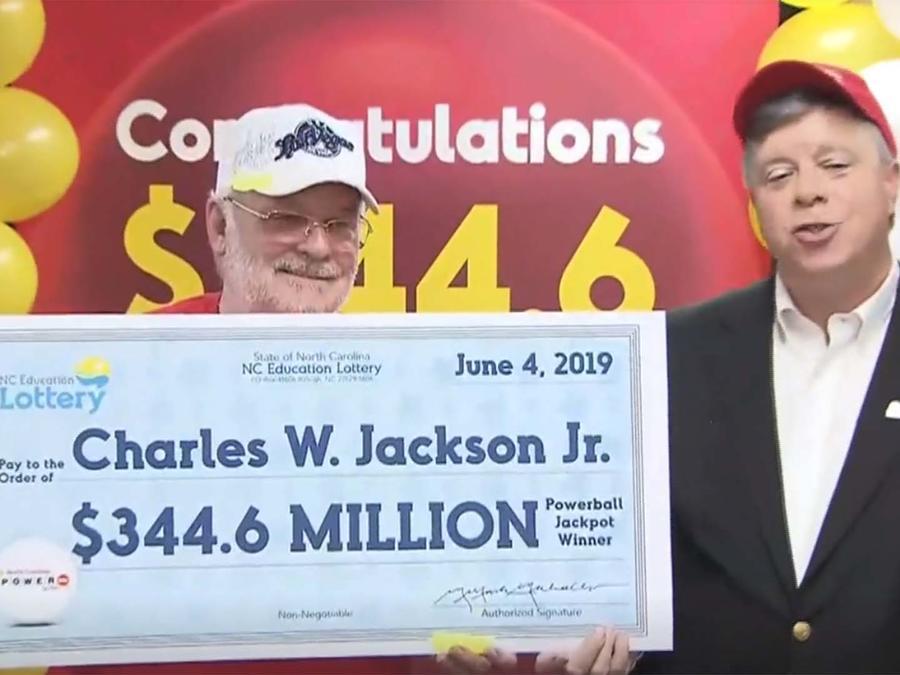 Charles W. Jackson Jr. ganó $344.6 del Powerball
