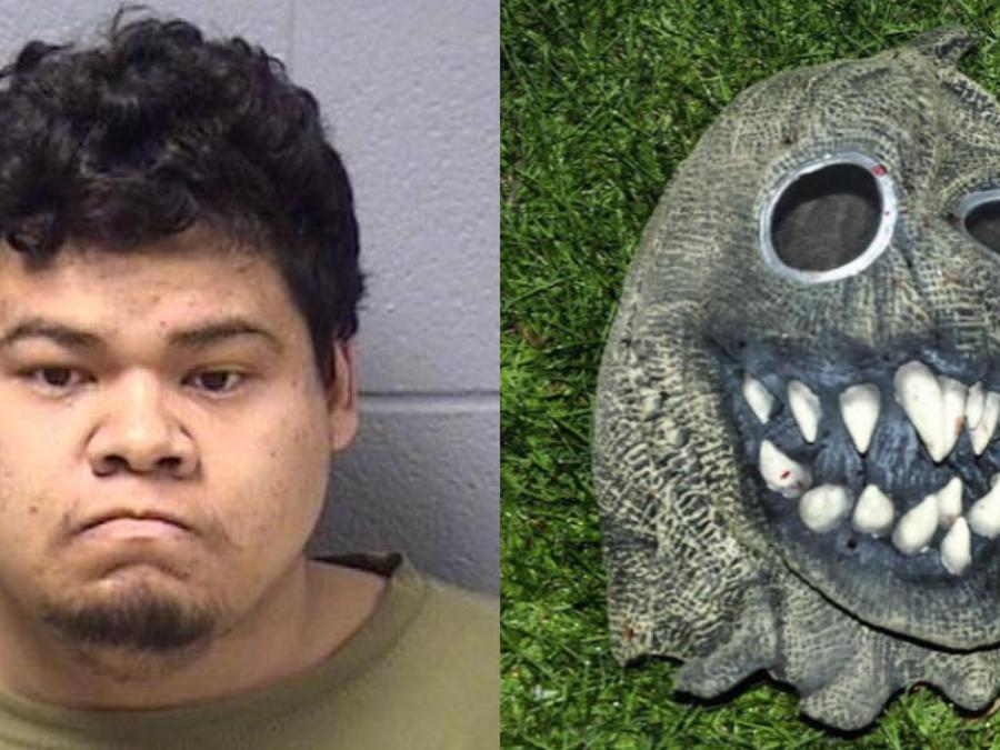 Ederaldo Frantz usó esta máscara para intentar matar a su víctima