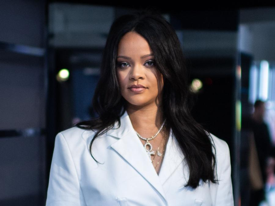 Rihanna at her Fenty collection launch party