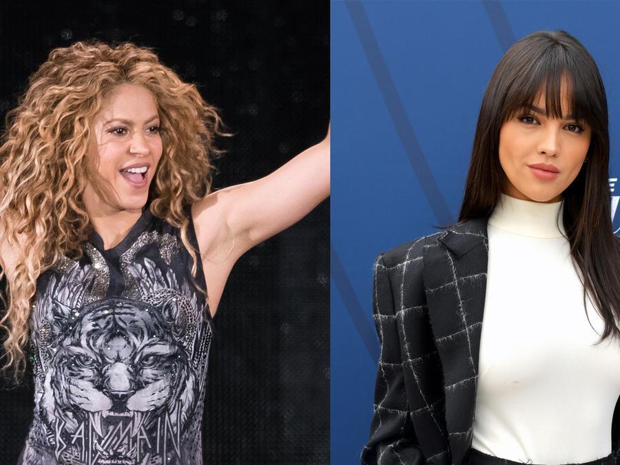 Shakira en concierto y Eiza González en una red carpet