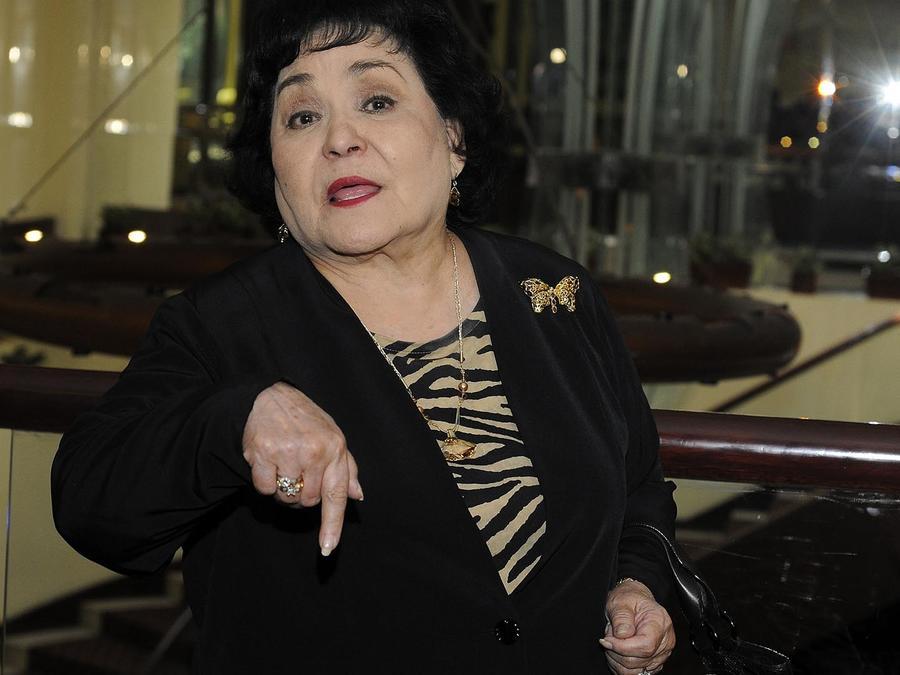Carmen Salinas posa durante el anuncio de los nominados a la Diosa de Plata