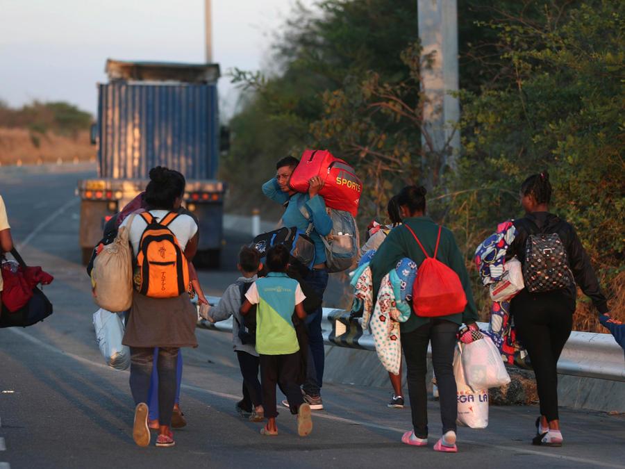 Inmigrantes venezolanos en una imagen de archivo