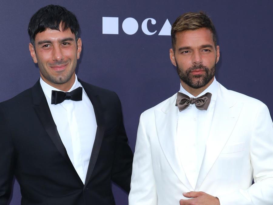 Jwan Yosef y Ricky Martin en MOCA Benefit 2019 en Los Ángeles, California