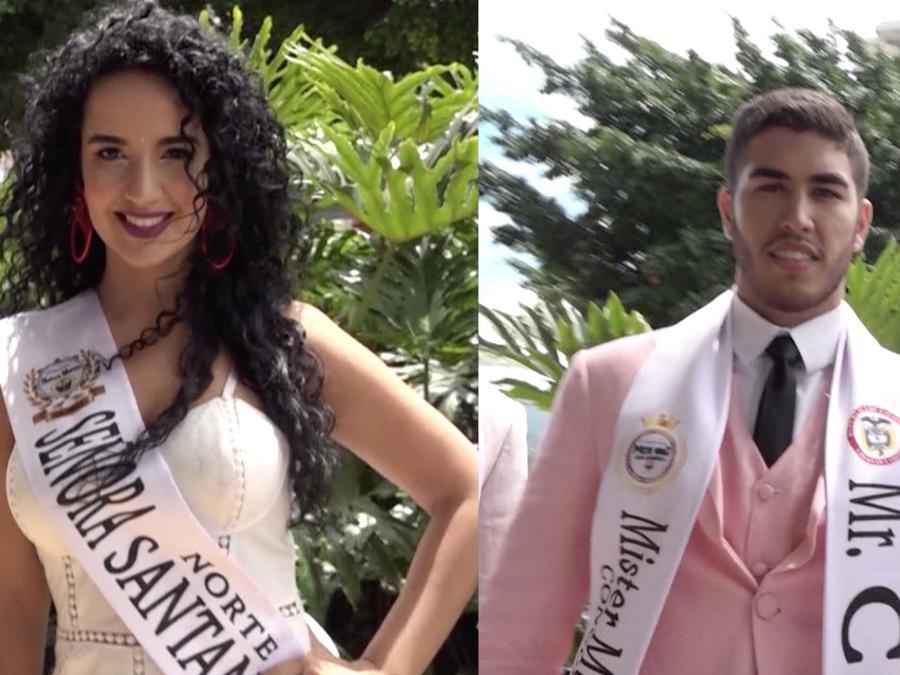 """Eleonora Useche, representante de Norte de Santander se fue a celebrar con """"Míster Mundo Colombia"""", Elías Lacouture"""