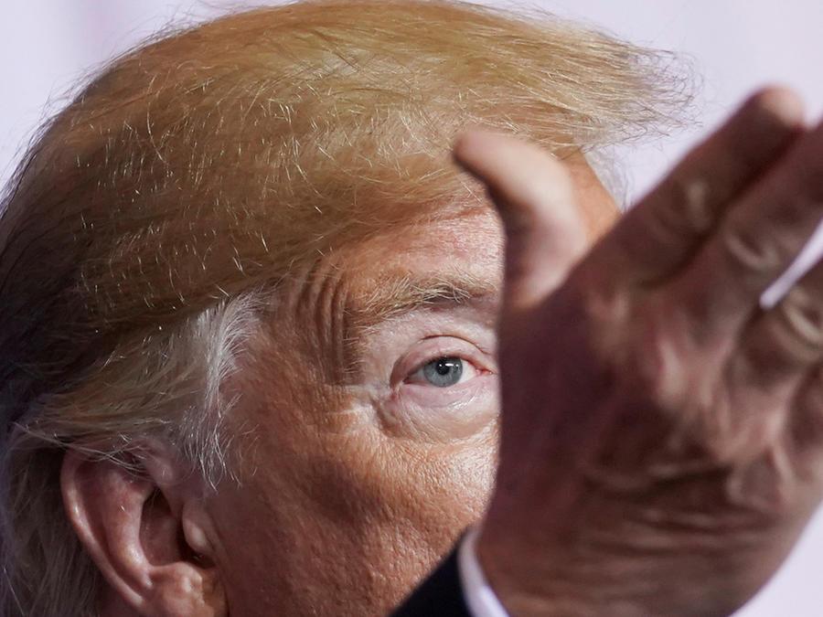 El presidente de EEUU, Donald Trump, en conferencia de prensa de cumbre del G20