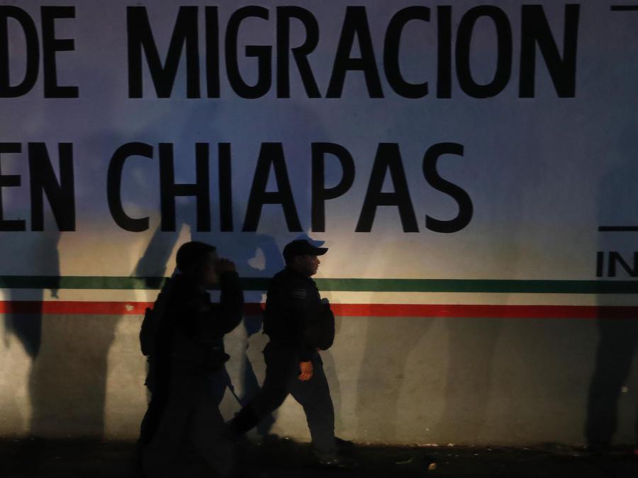 Imagen de archivo de centro de detención de migrantes en el estado de Chiapas, México.