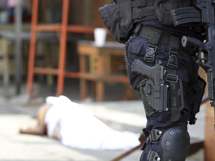 Imagen de archivo de un asesinato en México en enero de 2019.
