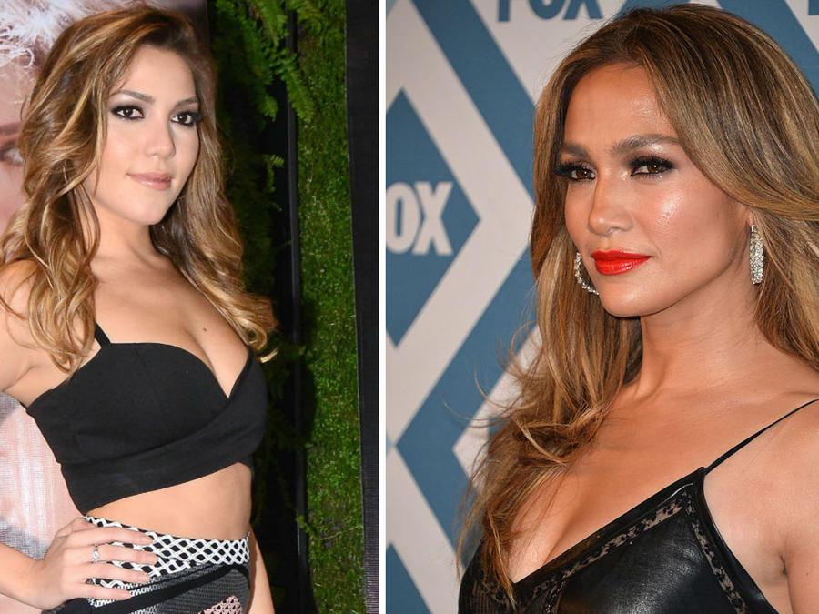 Frida Sofía y Jennifer Lopez