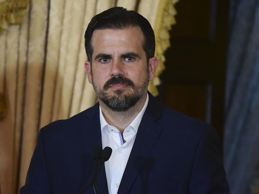El gobernador de Puerto Rico, Ricardo Rosselló, durante una rueda de prensa en San Juan.
