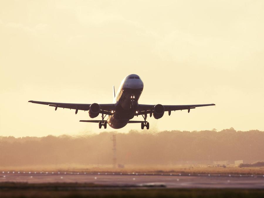 Una imagen de archivo de un avión.