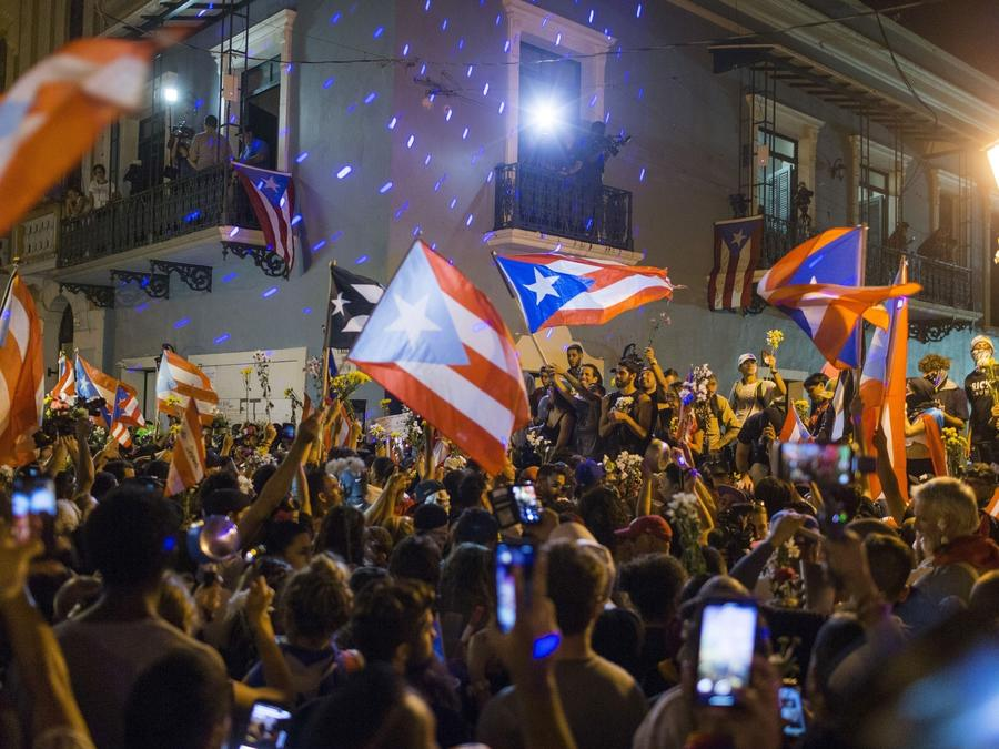 Puerto Rico celebra la renuncia de Ricardo Roselló