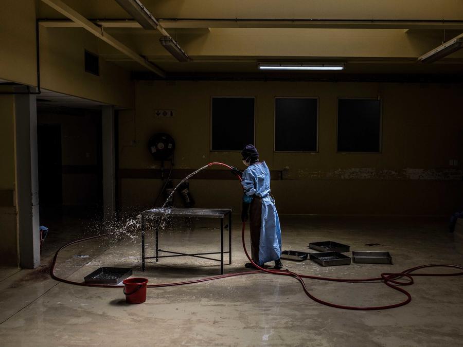 Fotografía de archivo de una morgue