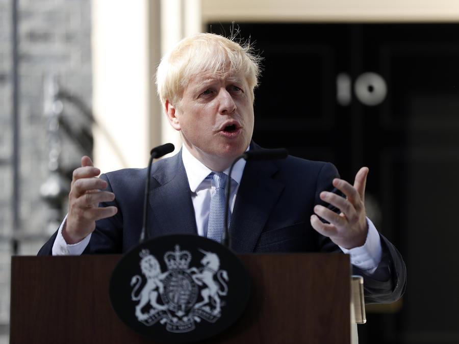 Imagen del primer ministro británico, Boris Johnson, el 24 de julio de 2019.