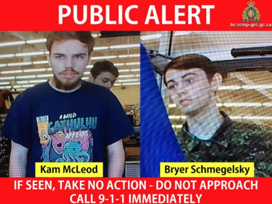Cartel de búsqueda de los dos presuntos asesinos.