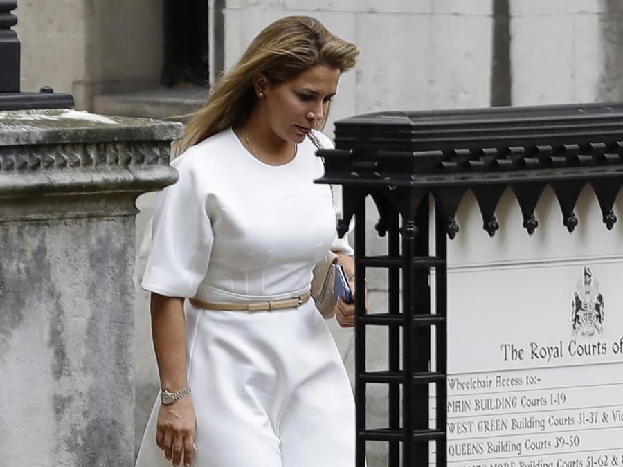 Imagen de la princesa Haya Bint al-Hussein el 30 de julio de 2019.