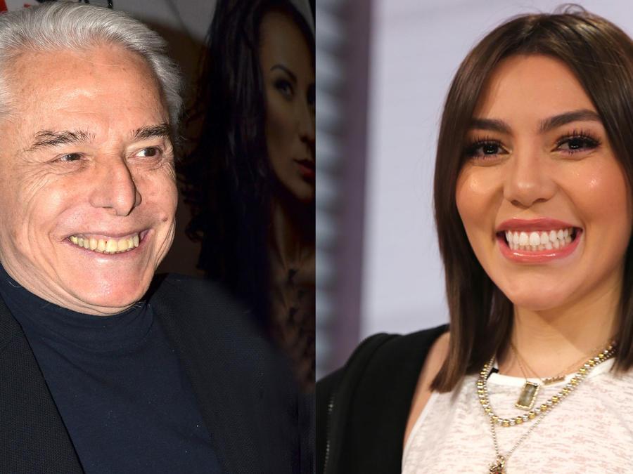 Enrique Guzmán y Frida Sofía sonriendo